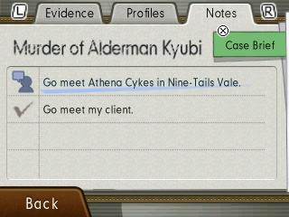 Ace Attorney 5 - Notebook