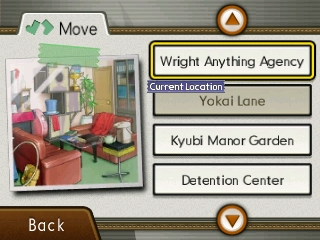 Ace Attorney 5 - Travel UI